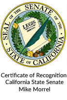 Certificate of Recognition State of CA